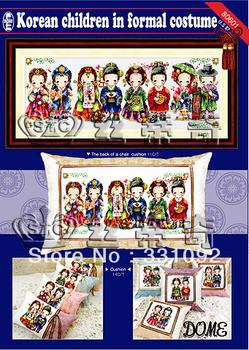Free Shipping New Unfinished Elegant easy handle DIY Cross Stitch Kit Korean Children in Formal Costume