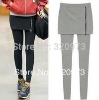 free shipping 2013 Korea style women sexy plus size cotton zipper legging skirts high quality wholesale price