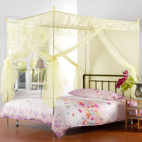 Royal mosquito net household textile princess three door stainless steel floor stand mosquito net 1.8 meters mosquito net