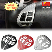 Lm MITSUBISHI asx multifunctional steering wheel keysters MITSUBISHI tattoo black red silver