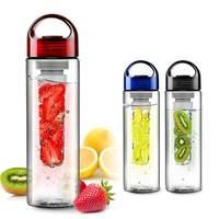 Tritan plastic cup water bottle outside sport cqua lemon emperorship fruit cup
