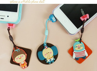 DHL FEDEX free shipping ks kawaii cartoon animal Anti dust plug Screen wipe for phone/kpop cute anime headphones the cap pendant