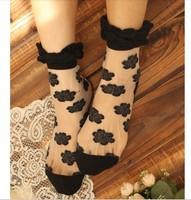 2013 New reach Top quality women's Transparent dots socks Cute summer comfortable sock