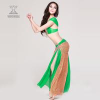 Belly dance set quality costume indian dance performance wear slim hip skirt 2053