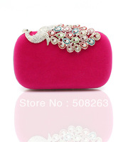 2013 New Arrivals Ladies' Day Clutches Peacock Rings Evening Bag Rhinestone Fingers Bags TB114