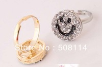Wholesale jewelry Personality and happy every day full of lovely smile smile ring ring ring R0002