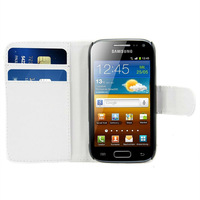 Card Slot Stand For Samsung Galaxy Ace 2 i8160 PU Leather Wallet Case Free Shipping