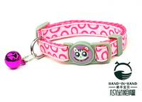 Wholesale Free shipping (6 colors)  24pcs/lot Classic Bubbles Print Cat Collar Safety Buckle style set 1.0cm