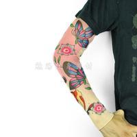 Ride sun flower tattoo gloves oversleeps long design fashion tattoo sleeve