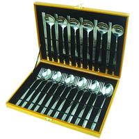 Gift western cutlery stainless steel tableware chopsticks fork spoon 24 piece set