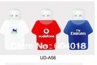DHL/Fedex/EMS Free shipping Free custom logo jersey usb T shirt pendrive  50pcs/lot  1G,2G,4G,8G,16G