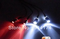 RC car accesories  Led Lights  with alloy light fixture for 1:10 RC car  4pcs/set  free shipping