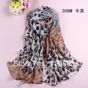 Free shipping wholesale 2013 print leopard silk chiffon long scarf lady super pretty leopard fashion Shawl Stole RA02S05(China (Mainland))