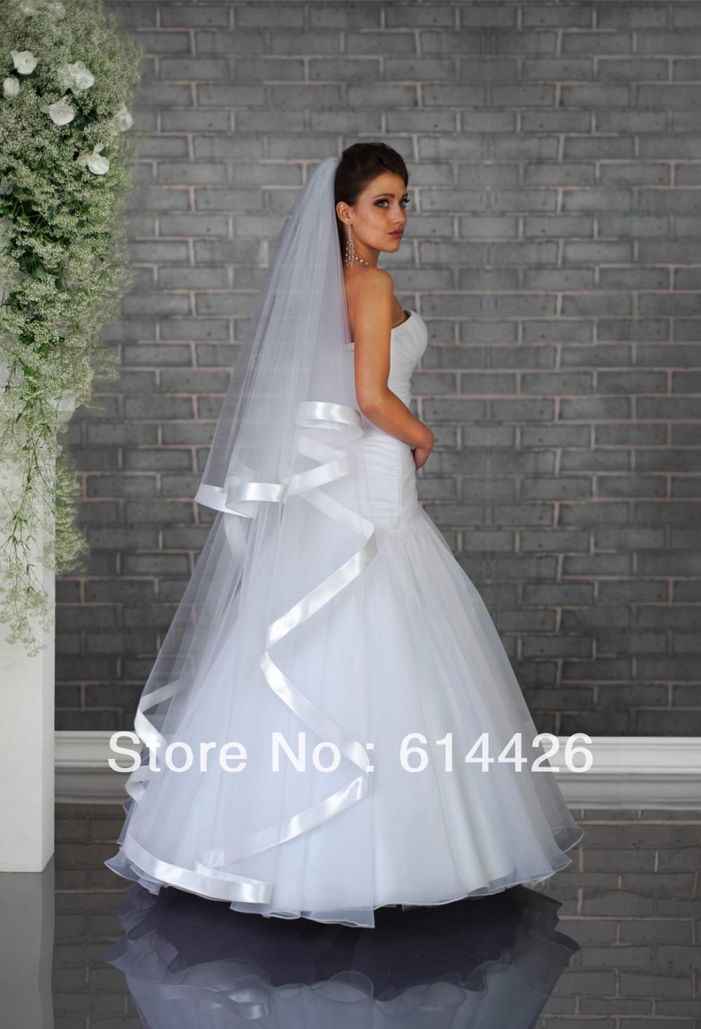 voile de mariée 2013 blanc ou ivoire voile de mariée accessoires de mariée al4735 long voile de mariée