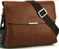 POLO  leather men messenger bag. fashion male shoulder bag, men business bag  casual shoulder bag promotion