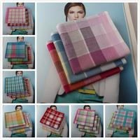New arrival plaid women's 100% cotton handkerchief