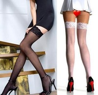 Lace Decoration Thigh High Stockings Pantyhose Tights Sexy Women Lingerie