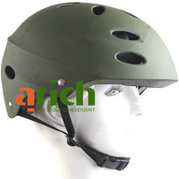 USA Army Special Force Helmet Paratroop Casque Headpiece for Skateboarding BMX Survival Game- Green