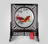 Hunan embroidery fish handmade embroidery silk gift