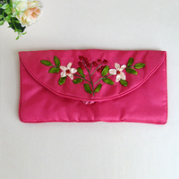 Hunan embroidery handmade embroidery souvenir gift glasses bag coin pocket