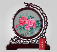 Hunan embroidery peony blooping 2013 rich new arrival elegant packing decoration national limited edition trend