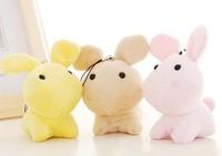 Free Shipping    Fashion Jewelry   Super cute rabbit bag pendant plush phone chain lie prone to lie prone rabbit key accesories