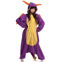 Purple Dragon Anime Cosplay Christmas Costumes Kigurumi Onesie Adult Pyjamas Sleepwear Nightclothes For Hallowmas Free Shipping