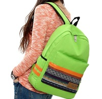 Fashion canvas backpack female fashion preppy style trend of the national trend student school bag backpack