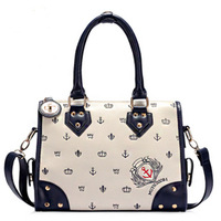 2013 women's handbag bag fashion smiley bag navy style bag shoulder bag handbag cross-body women's handbag
