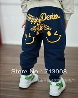 Retail 2013 new Spring fashion simle face pants for children/kids clothing baby,children's sport pants,Infant trousers