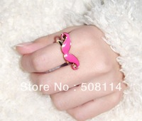 Wholesale Retro cute Mustache Beard other drop glaze ring mixed colour 12pcs/lot R0025