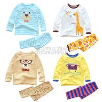 Children's clothing autumn cartoon 2013 100% cotton male female child at home underwear set baby child set sleepwear