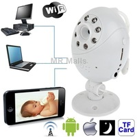 Wifi Point-to-point with Infrared Night Vision Light/ Record / Monitoring for iOS and Android 2.3 above and Computer (White)