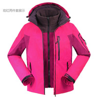 High Quality Female Women Winderproof Waterproof Outdoor Snow Climbing Skiing Jackets coats PIZEX Three Layer P22
