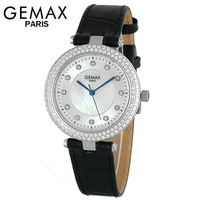 Gemax 2013 large dial luxury rhinestone queen watches vintage strap