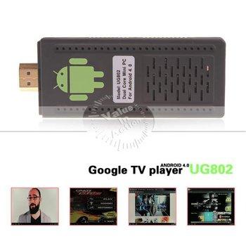 Latest Firmware WiFi Plus Version Android 4.1.1 Mini PC UG802 Dual Core RK3066 Cortex-A9 Stick MK802 III HDD Player TV Box