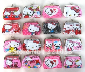 Lot 12 pcs Girls Mini Cute Hello Kitty Coin Purses Wallets Bags Party gift