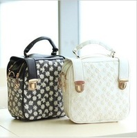 2012 princess elegant gentlewomen lace rivet backpack handbag messenger bag women's handbag