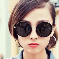 2013 fashion vintage big circle sun glasses sunglasses star style big box prince's mirror