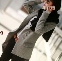Hot sale top quality plus size clothes one button wool coat woolen suit medium-long outerwear trench