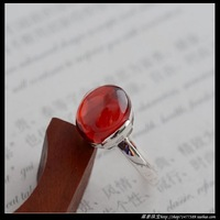 925 pure silver jewelry vintage thai silver garnet abrism beautiful small women's ring
