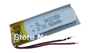 1 pcs 3.7V 160 mAh Polymer rechargeable Lithium Li Battery For MP3 MP4 Bluetooth Headset 401235 free shipping