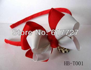Girl hairbows grosgrain hairbow hairband hair band satin flwer Crochet headband baby hair bow no.f11