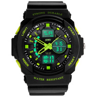 Dual display watches male outside hiking sport multifunctional electronic watch led waterproof male watch