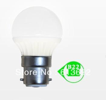 DHL free shipping saving energy Ceramic 320lm B22 E26 3x1w 3W dimmable light led bulb light LED globe light led lighting bulbs