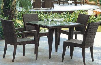 Garden furniture (4 pcs rattan chair + 1 pc square rattan table)