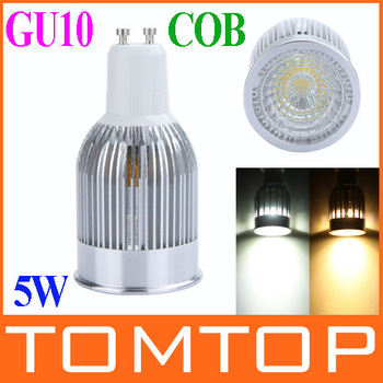 5W LED COB Spotlight Down Lamp GU10 High Brightness Energy Saving 85-265V White / Warm White Light lamp bulbs free shipping