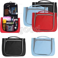 Travel Organizer Hanging Bag Toiletry Makeup Cosmetic Beauty Tools Wash Purse Red Black Blue Color