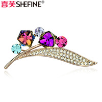 Accessories geometry crystal  quality   silk scarf buckle female brooch