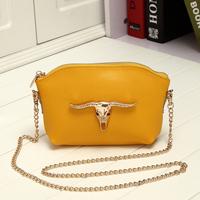 New 2014 hot trend women genuine leather handbags women messenger bags mini chain bags one shoulder crossbody free shipping